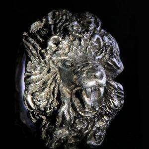 Unikat Ring | Prächtiger Löwen Ring | Silber | Anina Caracas