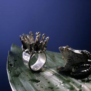 Unikat Ring aus Silber | Ring Krönung | Schmuck als Kunstwerk von Anina Caracas | Düsseldorf