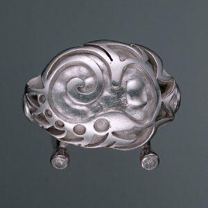 Unikatschmuck aus Düsseldorf | Ornament für Anna aus Silber mit Diamanten